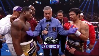MANNY PACQUIAO VS ADRIEN BRONER POST FIGHT REACTION