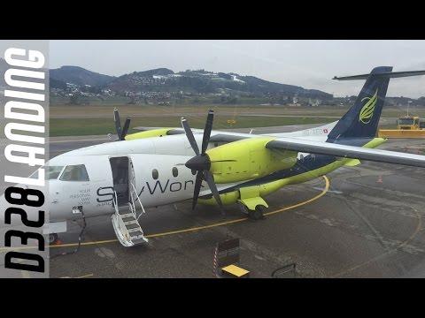 SkyWork Dornier 328 landing at Bern Airport