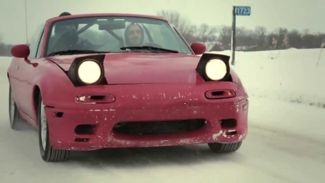 Miata And Rx7 Snow Drifting Youtube