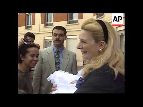 France - Yasser Arafat's Newborn Daughter