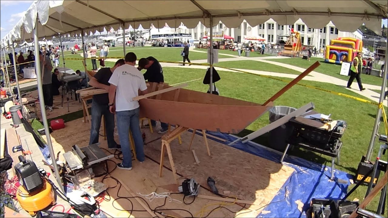 Quick and Dirty Boat Building Competition 2014 - YouTube