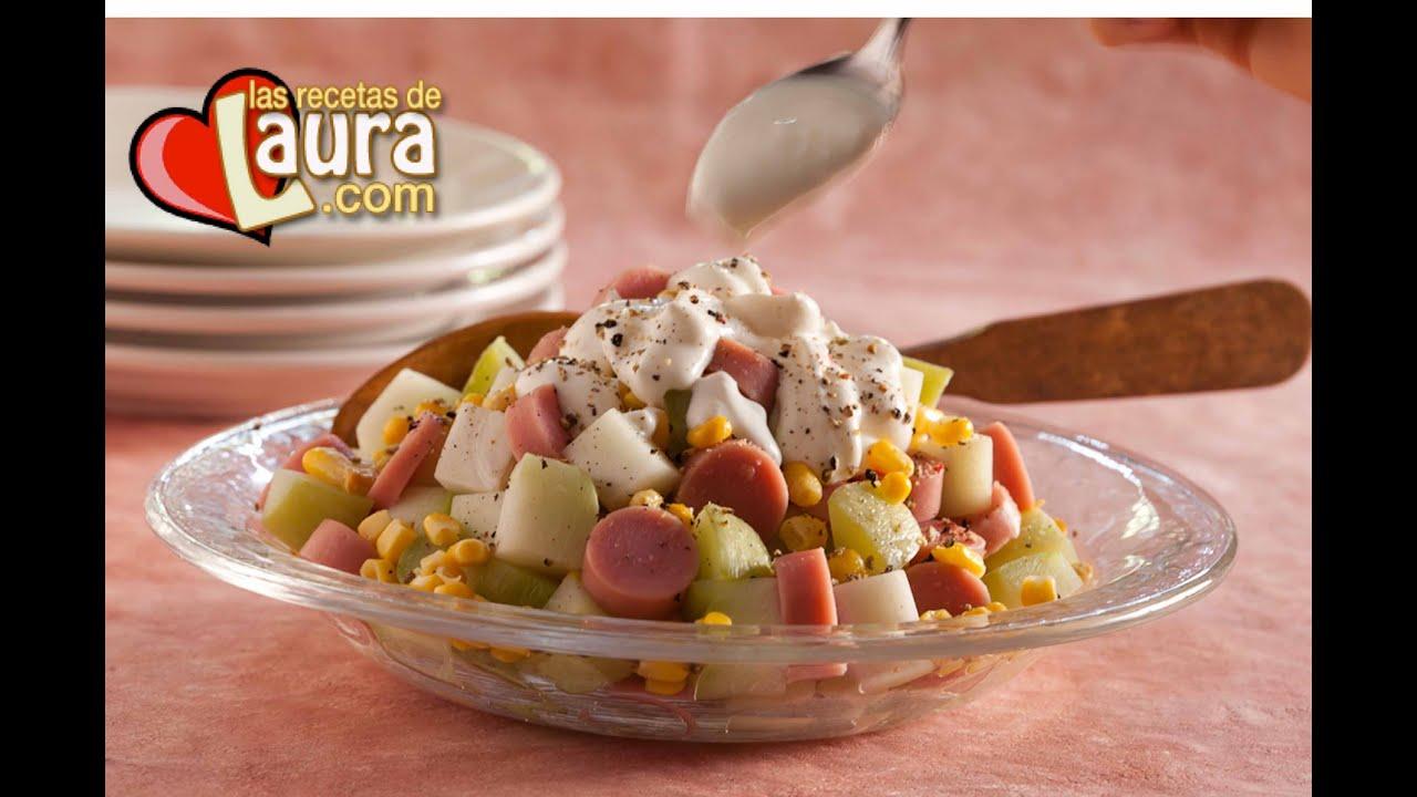 ensalada de salchicha de pavo recetas light las recetas de laura turkey winnie recipe youtube