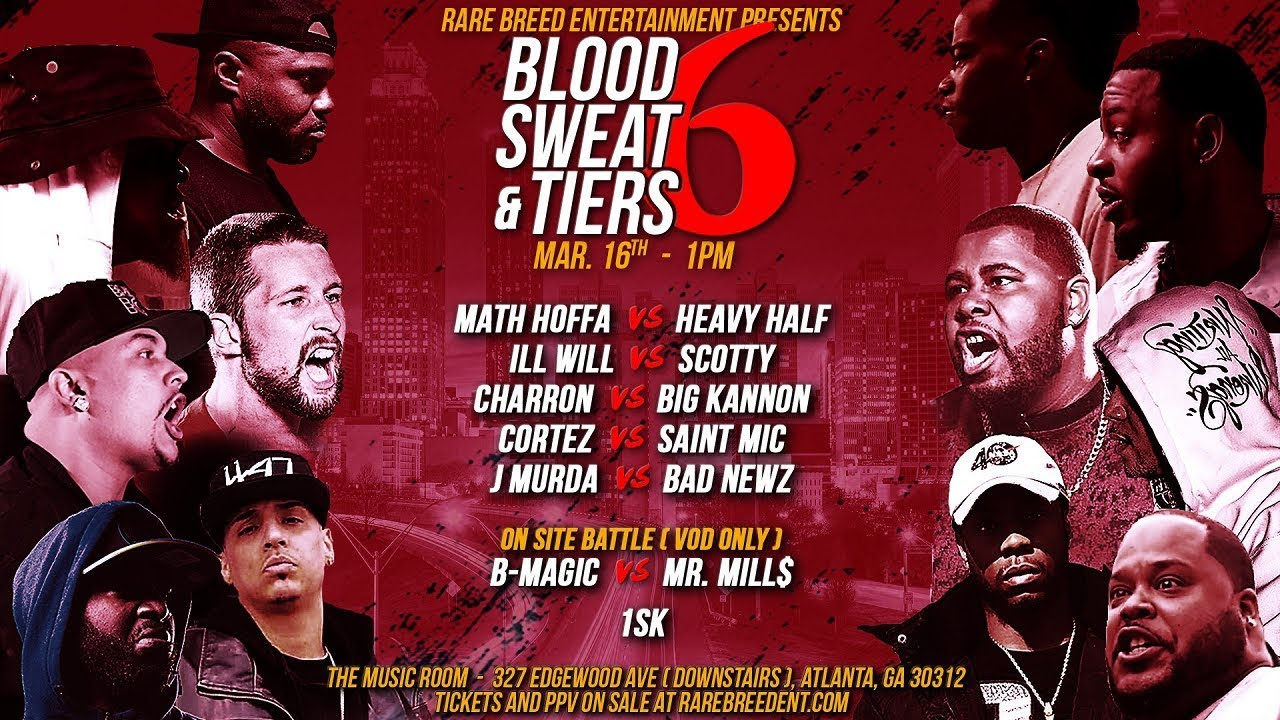 RBE Announces 'Blood, Sweat And Tiers 6' Battle Rap Event in