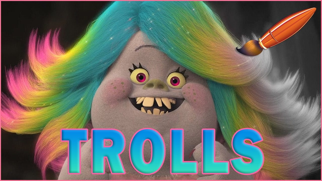 Trolls Movie Bridget Loves Her Hair Kids Coloring Book Coloring