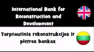TRANSLATE IN 20 LANGUAGES = International Bank for Reconstruction and Development