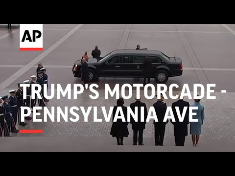 Trump's motorcade drives down Pennsylvania Ave