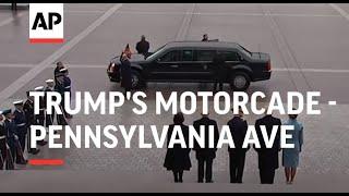Trump's motorcade drives down Pennsylvania Ave