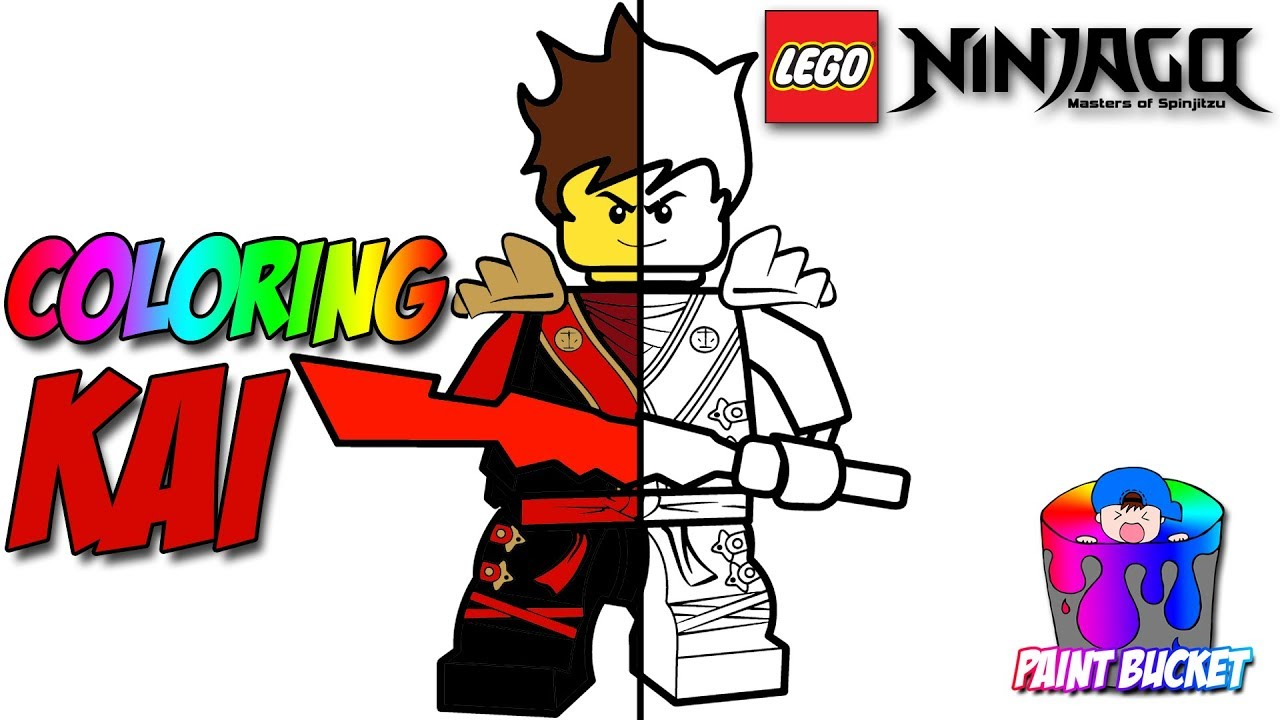 lego ninjago kai the red ninja coloring page the lego ninjago movie coloring book for kids - Lego Ninja Coloring Pages