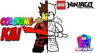 LEGO Ninjago Kai The Red Ninja Coloring Page - The LEGO Ninjago Movie Coloring Book for Kids