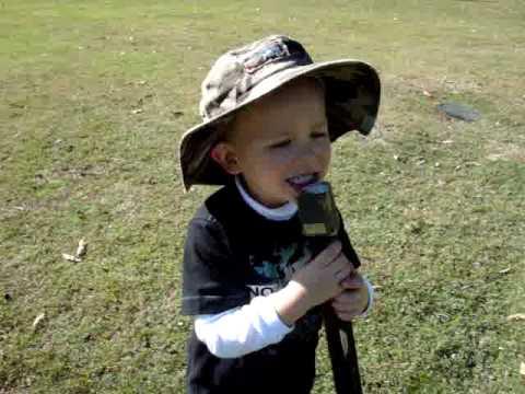 Harry singing Advance Australia Fair