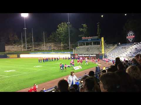 Lakeland Junior Senior High School Band and Drill Team PNC Field 2017 Clip 2