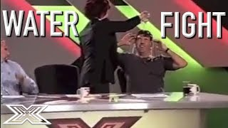 Sharon Osbourne THROWS Water Over Simon Cowell During Audition  | X Factor Global
