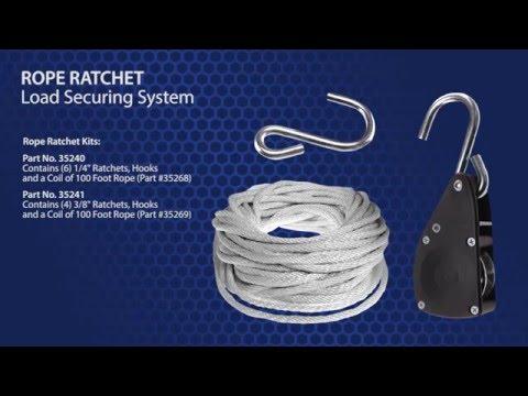 Rope Ratchet Load Securing System