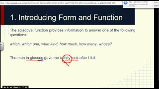 Grammar Lecture 2-1 | Form and Function English 382