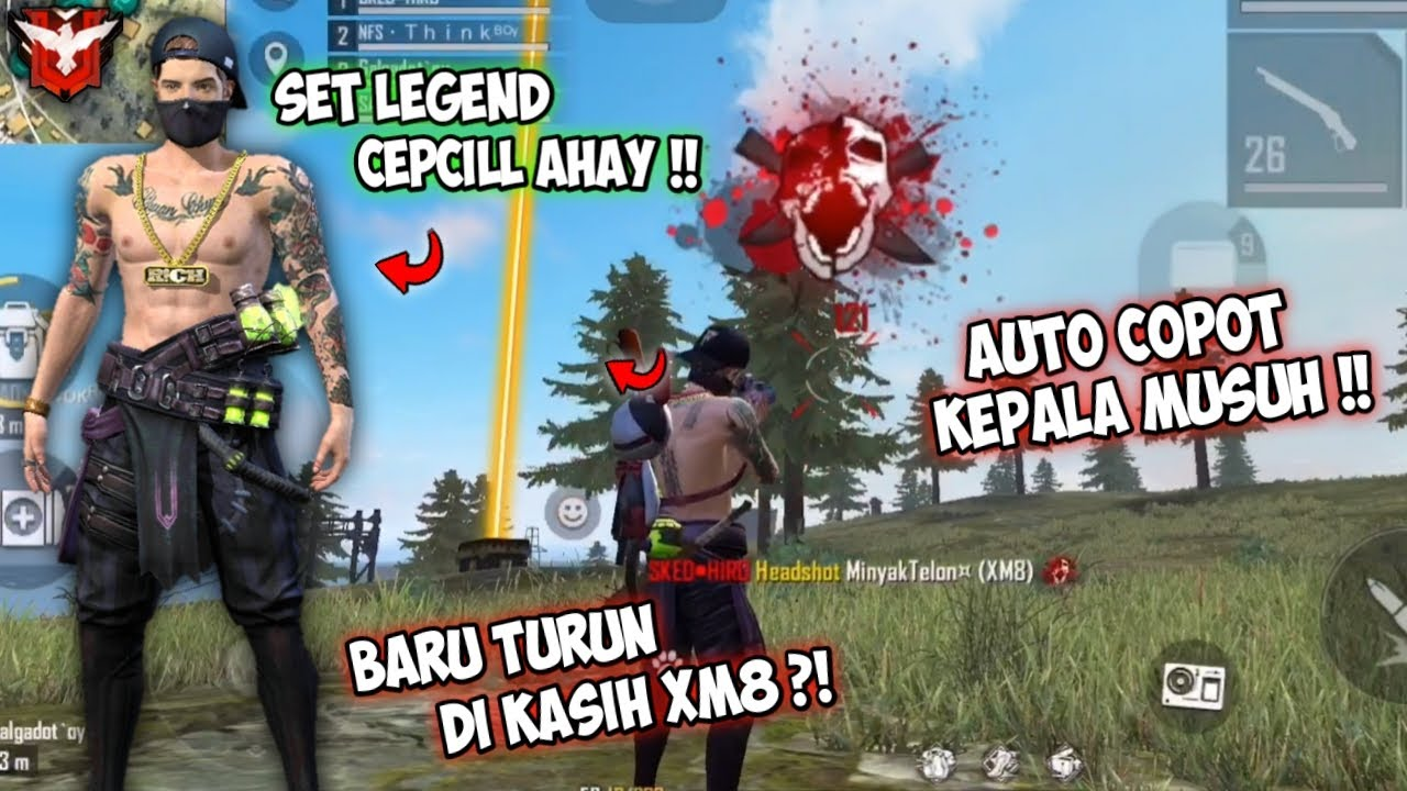 BERBURU KEPALA MUSUH PART 4 !! PAKE BUNDLE LEGEND CEPCILL AHAY !! FREEFIRE BATTLEGROUND