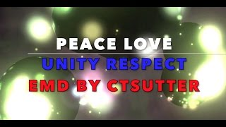 PLUR Peace Love Unity Respect Progressive EDM by CTSUTTER