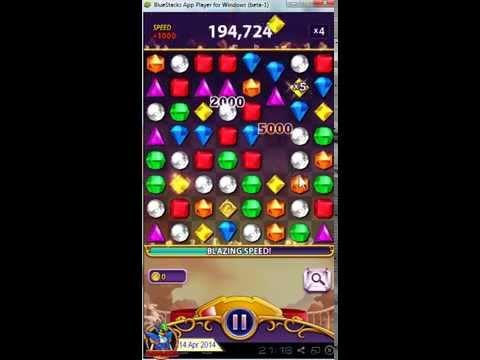Bejeweled Blitz v1.4.4 (Android) - on BlueStacks [720p]