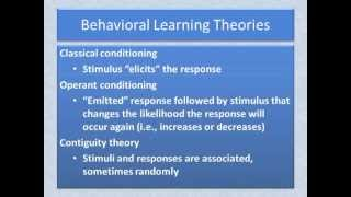 BH01 Behavioral theory overview