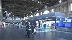 Bau des Provisoriums Amavita Bahnhof Apotheke im Zürich HB.