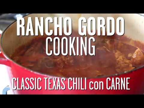 Rancho Gordo Texas Chili Con Carne With Taylor Boetticher Youtube