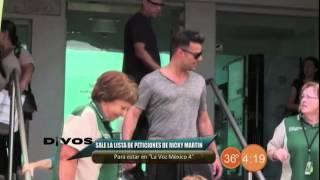 Divos - Peticiones de Ricky Martin para La Voz México 4