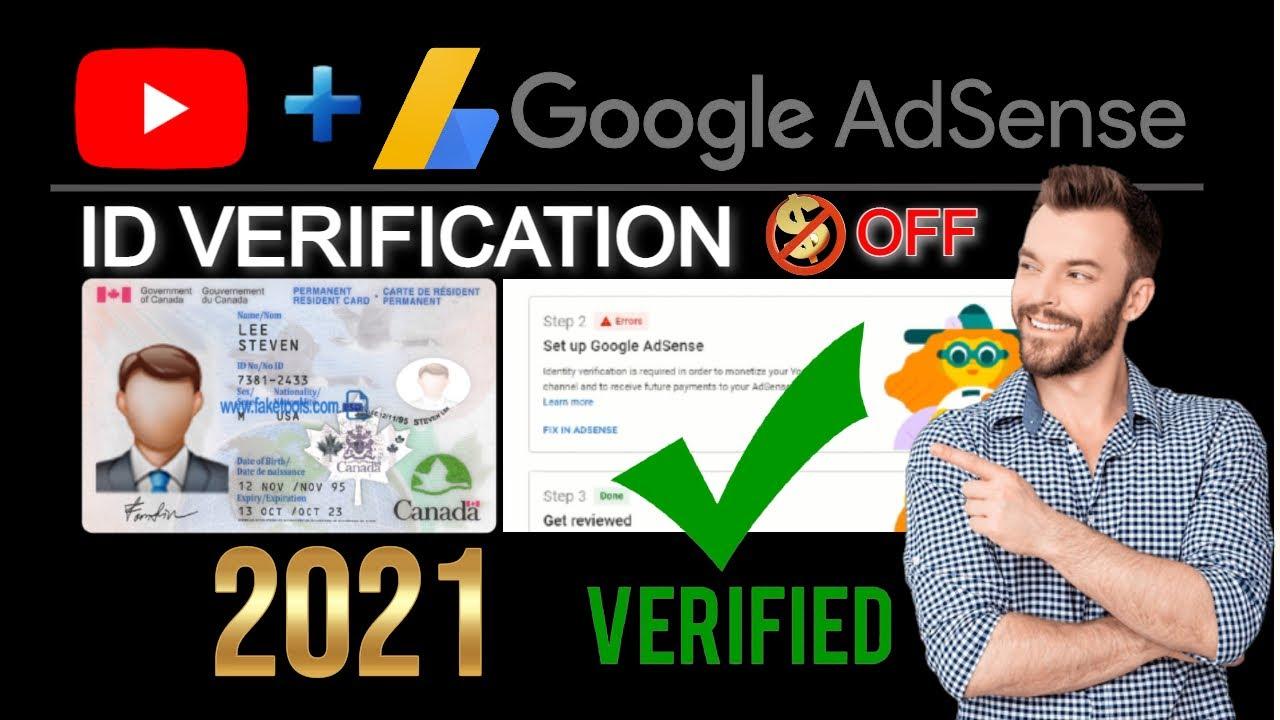 How To Verify My Identity On AdSense 2021    Monetization OFF    AdSense Identity Verification