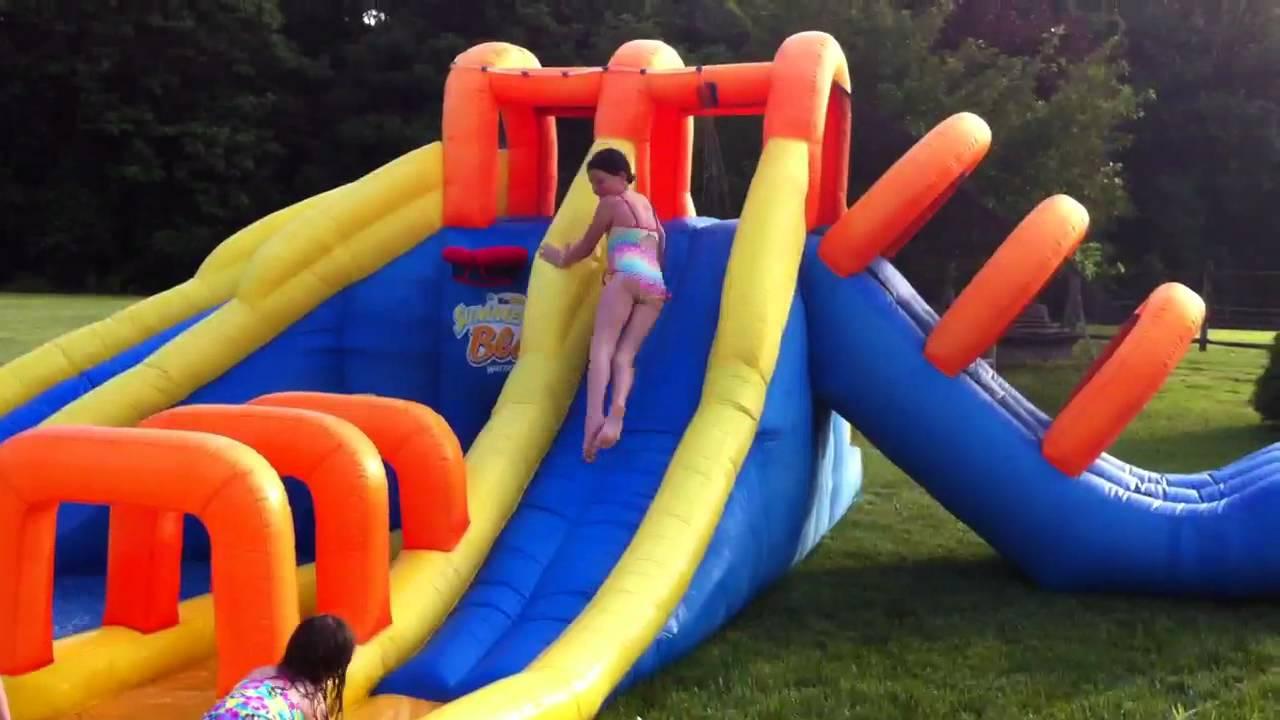 Westley Girls Backyard Water Slide Youtube