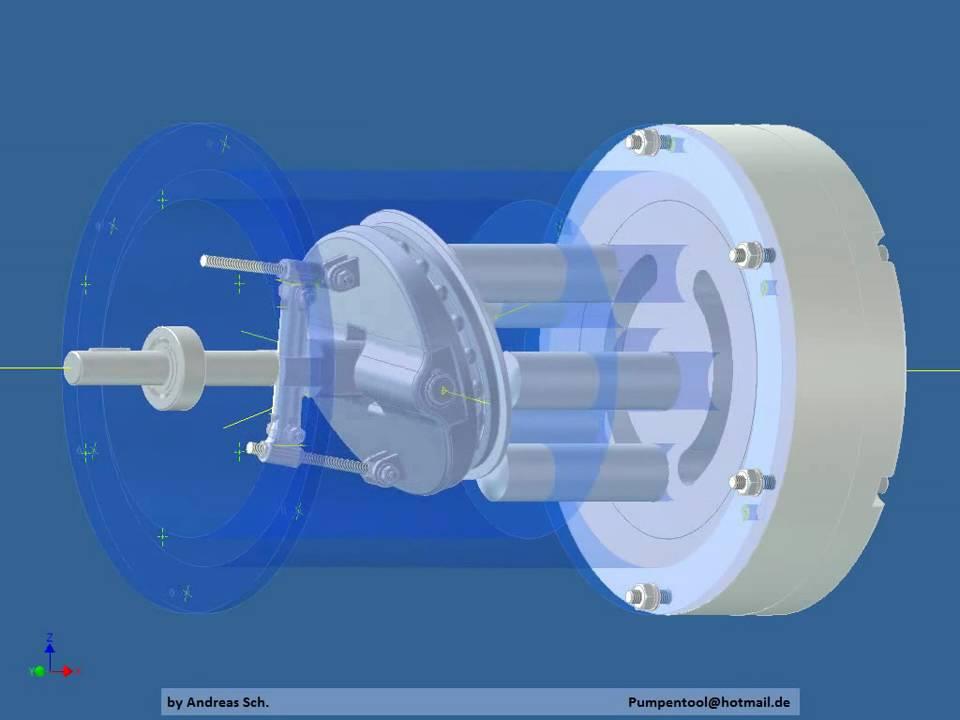 taumelscheibenpumpe erstes rendern swash plate pump first. Black Bedroom Furniture Sets. Home Design Ideas