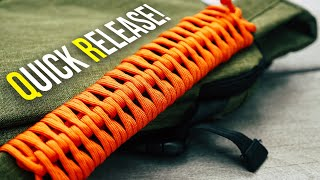 Deploys In SECONDS! Quick Release Paracord Handle Wrap TUTORIAL