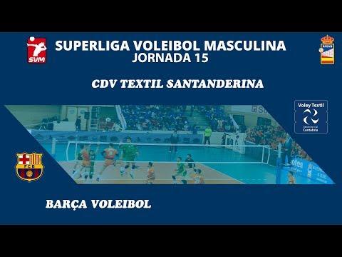 Retransmision en directo - Jornada 15 - Voley Textil Santanderina vs Barça Voleibol