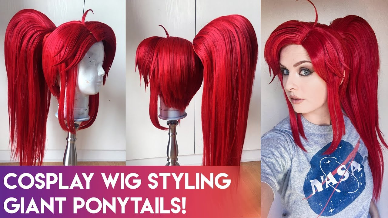 Cosplay Wig Styling - Giant Ponytails!