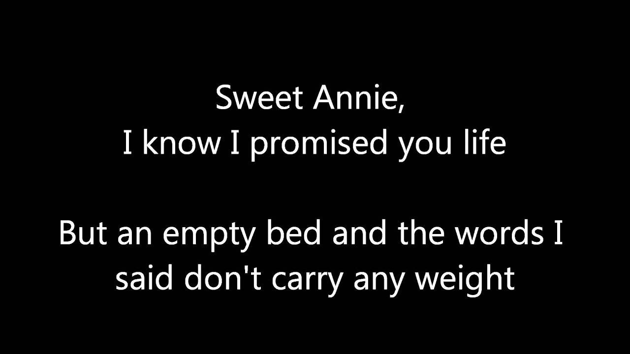 Song lyrics from annie
