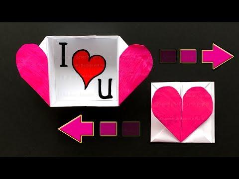 Origami Herz Box basteln mit Papier ❤ Origami Brief - Bastelideen: DIY Geschenke (F. Ow)