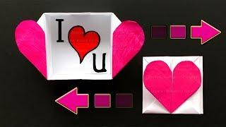 Origami Herz Box basteln mit Papier ❤ Origami Briefumschlag - Bastelideen - DIY Geschenk (F. Ow)