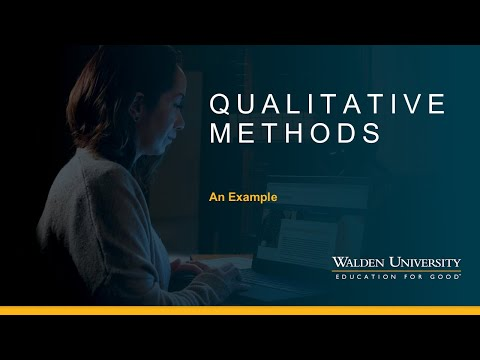 Qualitative Methods: An Example