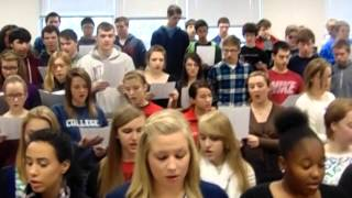 American Students singing the Lebanese Anthem