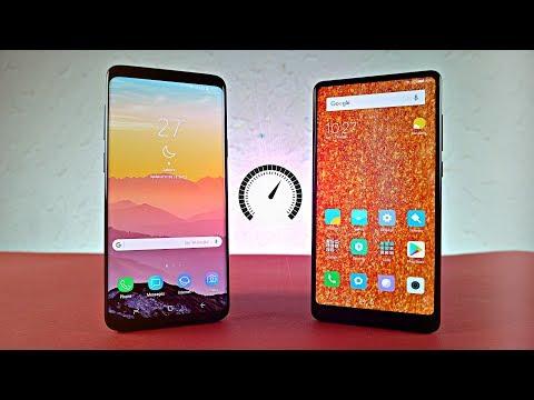 Samsung Galaxy S9 Plus vs Xiaomi Mi Mix 2 - Speed Test! (4K)