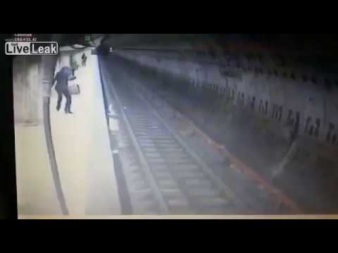 Woman pushed in front of metro