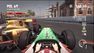 F1 2010 PS3 - Crash Montage with Commentary