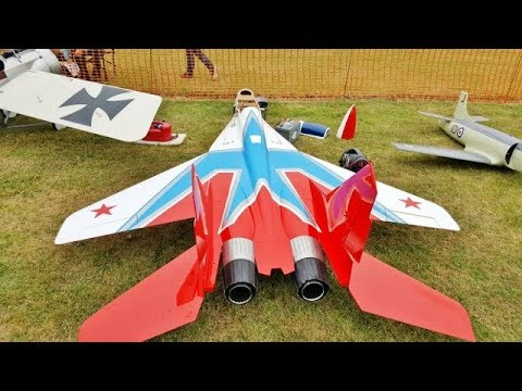 "GIANT 1/4.8 SCALE RC MIKOYAN MIG-29 UB ""FULCRUM"" - WORLDS BIGGEST - LMA RAF COSFORD AIRSHOW - 2017"