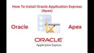 Installing oracle apex