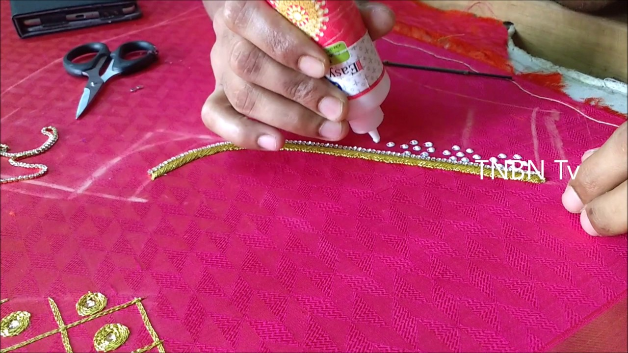 Simple Maggam Work Blouse Designs Basic Embroidery Stitches