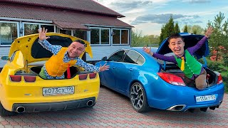 Mr. Joe & Older Mr. Joe found Sport Cars Camaro & Opel Insignia OPC & climbed Through Trunk Car 13+