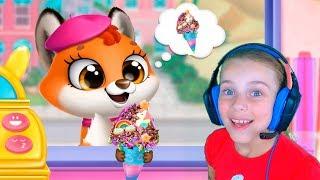 ГРУЗОВИК МОРОЖЕНОГО Животные в приложении для детей Развивающие игры для детей