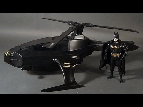 Batcopter Kenner Batman Dark Knight Collection 1989 Vehicle Toy Review Returns Bat Copter