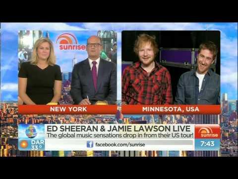 Ed Sheeran and Jamie Lawson Interview on Australia's Sunrise TV