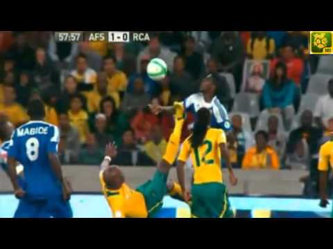 Kagisho Dikgacoi Horror Foul (South Africa 1 - 0 Central African Rep ) 23/03/2013