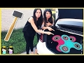 FIDGET SPINNER Trapped Inside Careless Princess Car Trunk Accident Outdoor Pretend Play ToysReview