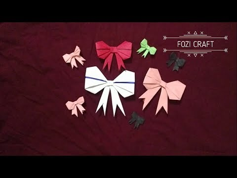DIY | How to make a paper bow | paper Bow origami | origami Bow instruction | Fozi Craft