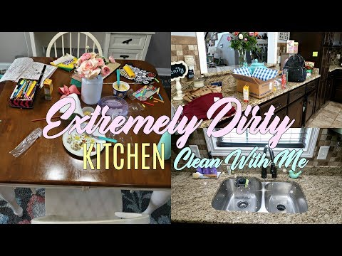 EXTREMELY MESSY Kitchen Cleaning Motivation| CLEAN WITH ME-Keep Calm and Clean